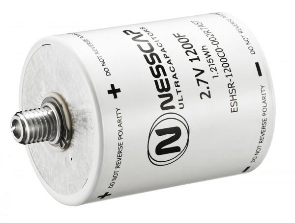 Ultrakondensator Zelle 1200F 2,7V - Hochlast - 60x75mm - M12/M16 Gewinde