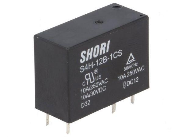 Shori Relais S4H-24B-1CS SPDT-Wechsler U=24V I=10A