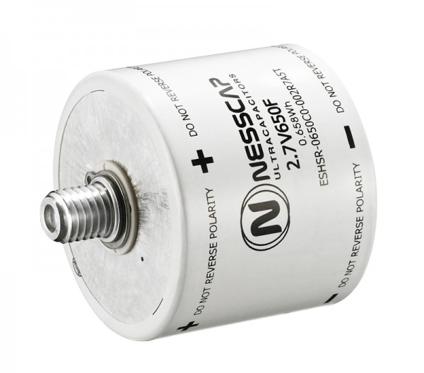 Ultrakondensator Zelle 650F 2,7V - Hochlast - 60x52,5mm - M12/M16 Gewinde