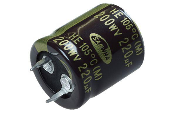 Al-Elko 220µF 400V 105C° HE-Serie Ø22mm L45mm