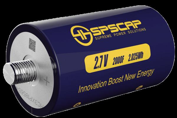 Ultracap Zelle 2000F 2,7V Schraubkontakte M12/M14, 60mm Durchmesser