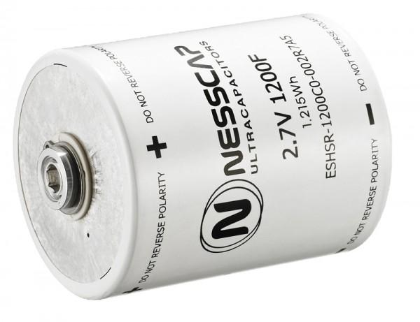 Ultrakondensator Zelle 1200F 2,7V - Hochlast - 60x74mm - Schweißversion