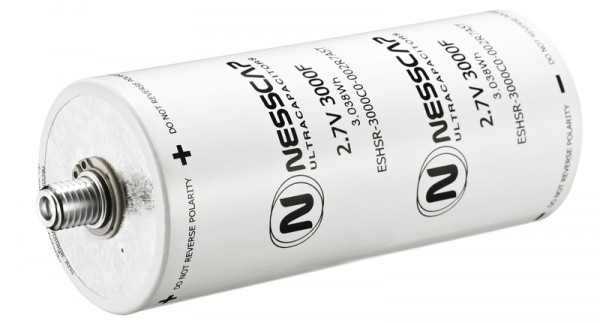 Ultrakondensator Zelle 3000F 2,7V - Hochlast - 60x139mm - M12/M16 Gewinde