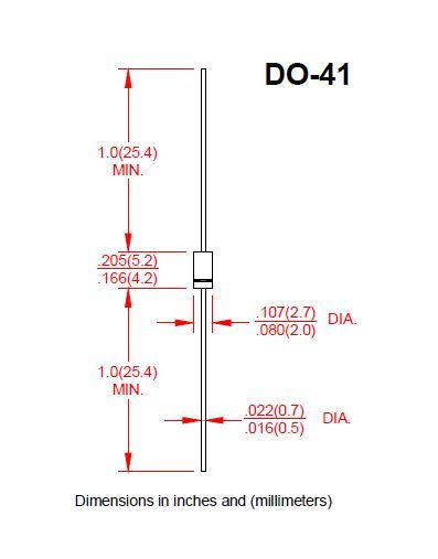 Diode Rectifiers 1N4007 DO-41 1000V 1.0A Ammo