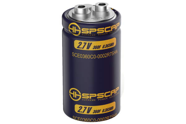 Ultracap Zelle 360F 2.7V Innengewinde 2xM5