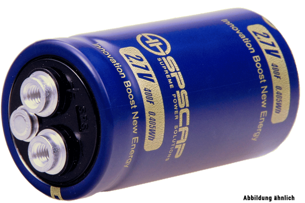 Ultracap Zelle 600F 2,7V Innengewinde 2xM5