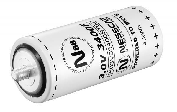 Ultrakondensator Zelle 3400F 3,0V - Hochlast - 60x138mm - Schraubversion