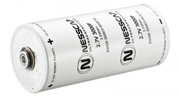 Ultrakondensator Zelle 3000F 2,7V - Hochlast - 60x138mm - Schweißversion